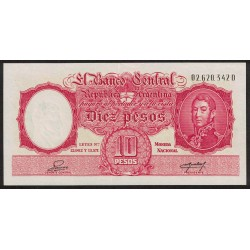 B1948 10 Pesos Leyes 12.962 y 13.571 D 1955