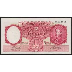 B1967 10 Pesos Leyes 12.962 y 13.571 F 1960
