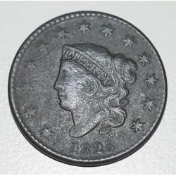KM45 EE.UU 1 Centavo 1825