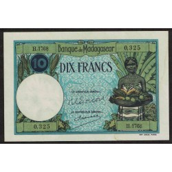 Madagascar P36 10 Francos 1937 UNC