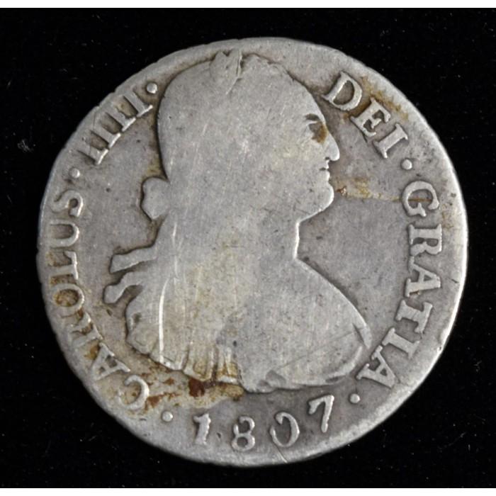 Potosi 2 Reales 1807 PJ CJ78.19 Carlos IIII