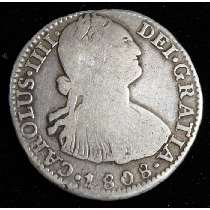 Potosi 2 Reales 1808 PJ CJ78.20 Carlos IIII