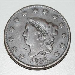 EE.UU KM45 1 Centavo 1828