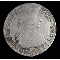 Potosi 8 Reales 1778 PR CJ63.7.1 Carlos III Perforada y Tapada