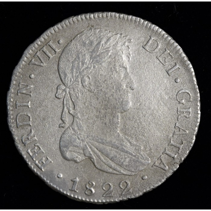 Potosi 8 Reales 1822 PJ CJ86.12 Fernando VII