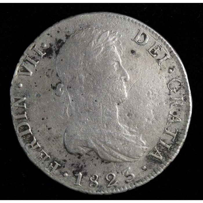 Potosi 8 Reales 1823 PJ CJ86.13.2 Fernando VII