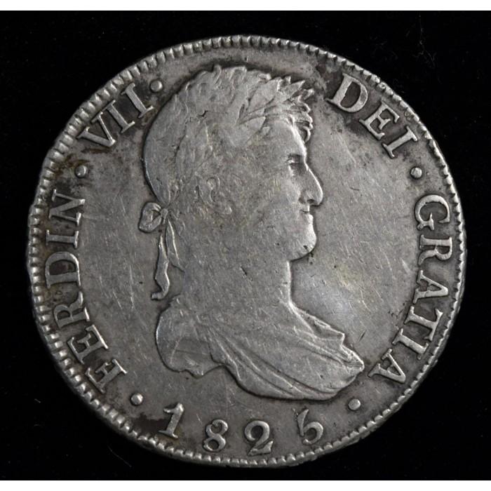 Potosi 8 Reales 1825 JL CJ86.15.2 Fernando VII