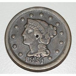 EE.UU KM67 1 Centavo 1851