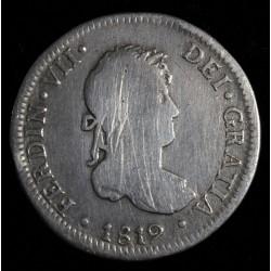 Lima 2 Reales 1819 JP KM115.1