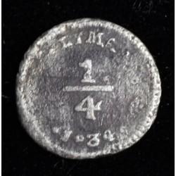 Perú 1/4 Real 1834 KM143.1