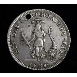 Bolivia Medalla Monetaria 1838 Plata