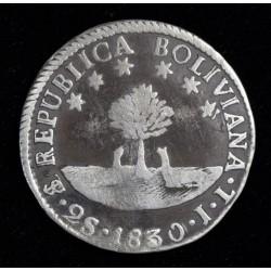 Bolivia 2 Soles 1830 JL KM95a