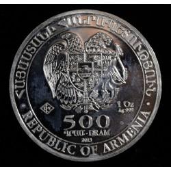 Armenia 500 Dram 2013 1 Onza Plata 999 UNC