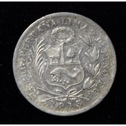 Peru 1/2 Dinero 1913 FG KM206.2