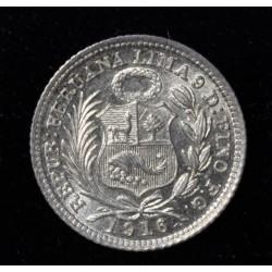 Peru 1/2 Dinero 1916/5 KM206.2 UNC