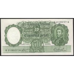 B2026 Reposicion 50 Pesos Leyes 19.962 y 13.571 1967/68 UNC