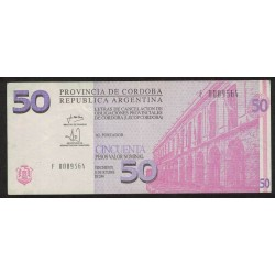 "Bono C-305 Cordoba 50 Pesos ""F"" 2002"