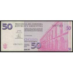 """Bono C-308 Cordoba 50 Pesos """"AE"""" 2002"""