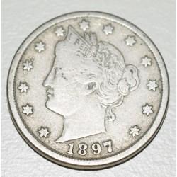 EE.UU KM112, 5 Centavos 1897