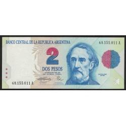 B3014 2 Pesos Convertibles A 1993 UNC