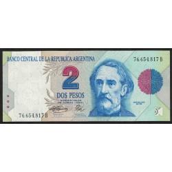 B3017 2 Pesos Convertibles B 1995 UNC