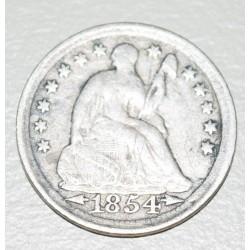 EE.UU KM76 1/2 Dime 1854