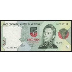 B3025 5 Pesos Convertibles L 1994 UNC