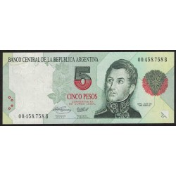 B3029 5 Pesos Convertibles B 1994 UNC