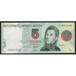 B3031 5 Pesos Convertibles B 1996 UNC