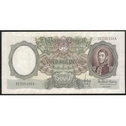 B2176 5000 Pesos Moneda Nacional A 1965