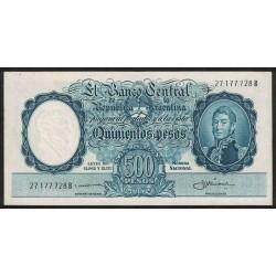 B2106 500 Pesos Leyes 12.962 y 13.571 B 1959 UNC