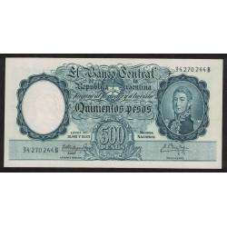 B2109 500 Pesos Leyes 12.962 y 13.571 B 1961