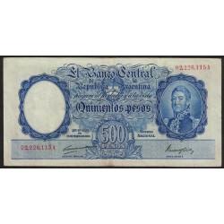 B2090 500 Pesos Ley 12155 A 1948 Numeracion en Rojo