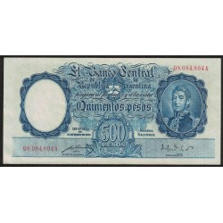 B2094 500 Pesos Ley 12155 A 1951 Numeracion en Rojo