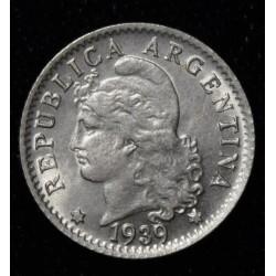 Argentina 5 Centavos 1939 Cuproniquel UNC