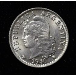 Argentina 5 Centavos 1940 Cuproniquel UNC