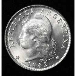Argentina 20 Centavos 1940 Cuproniquel UNC