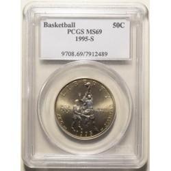 Estados Unidos 50 Cent 1995-S Basketball UNC Certificada PCGS
