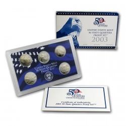 Estados Unidos 2003-S 50 State Quarters Proof Set UNC