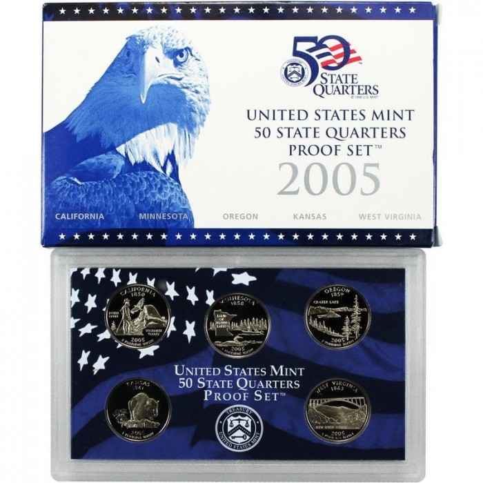 Estados Unidos 2005-S 50 State Quarters Proof Set UNC
