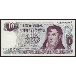 B2353 REPOSICION 10 Pesos 1973/74 F1 UNC