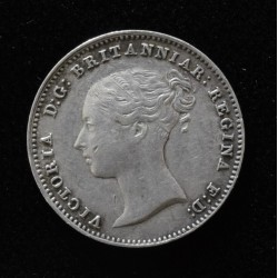 Inglaterra 3 Pence 1845 KM73