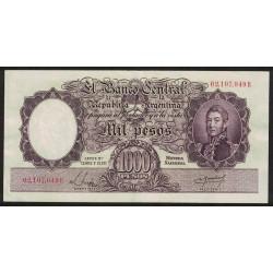 B2138 1000 Pesos Leyes 12.962 y 13.571 B 1955