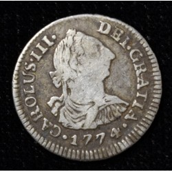 Potosi 1/2 Real 1774 JR CJ67.2 Carlos III