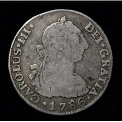 Potosi 2 Reales 1786 PR CJ65.15.3 Carlos III