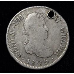 Potosi 2 Reales 1825 JL CJ88.15.4 Fernando VII
