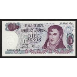 B2334 10 Pesos A 1970 Numeracion Baja UNC