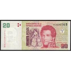 B3516 20 Pesos B 2005 UNC