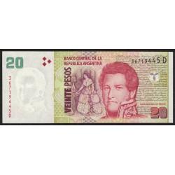 B3525 20 Pesos D 2014 UNC