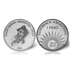 Republica Argentina 1 Peso 2006 Rally Dakar Plata Proof
